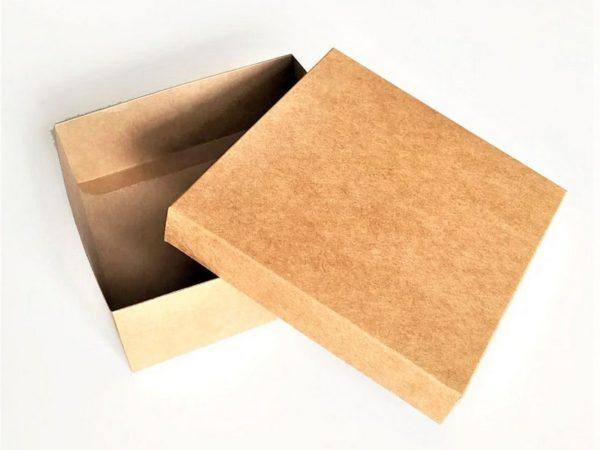 """Ящик подарочный картонный """"Крафт"""" 25*25*12"""